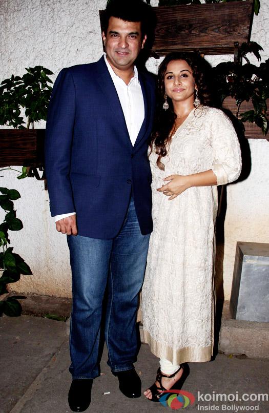 Siddharth Roy Kapur and Vidya Balan during the special screening of Hamari Adhuri Kahani at Sunny Super Sound