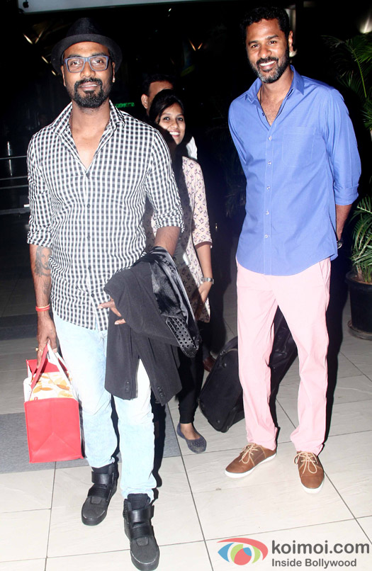 Remo D'Souza and Prabhu Deva leave for IIFA 2015