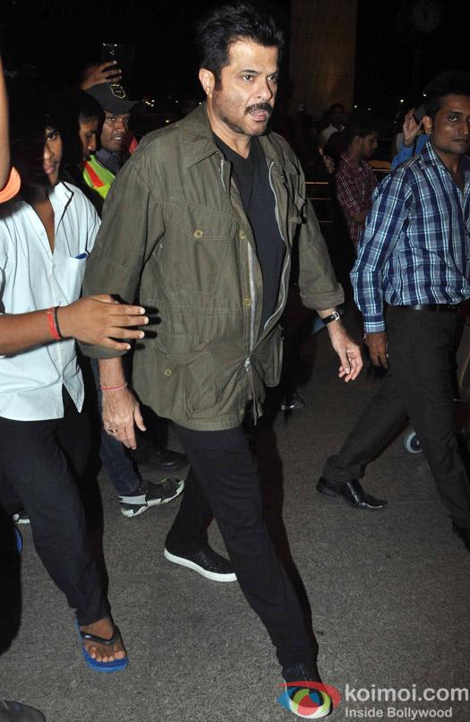 Anil Kapoor leave for IIFA 2015