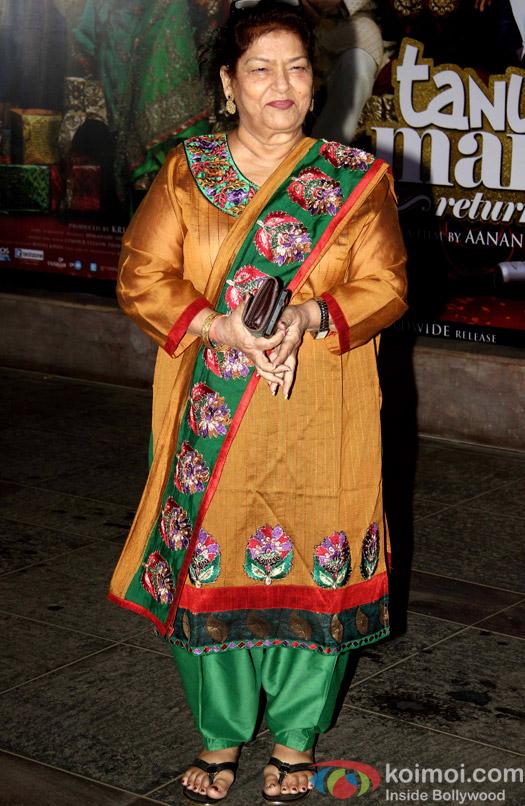 Saroj Khan during the success bash of movie Tanu Weds Manu Returns