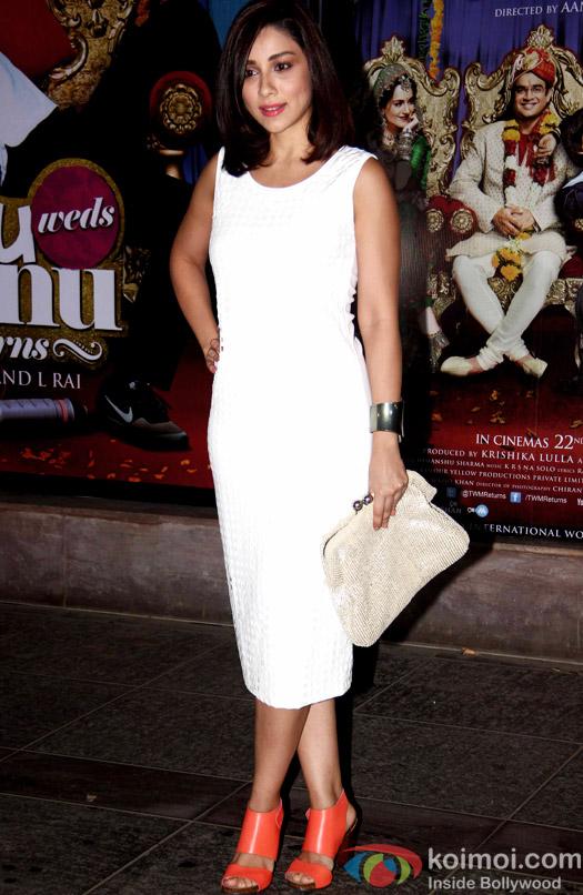 Amrita Puri during the success bash of movie Tanu Weds Manu Returns