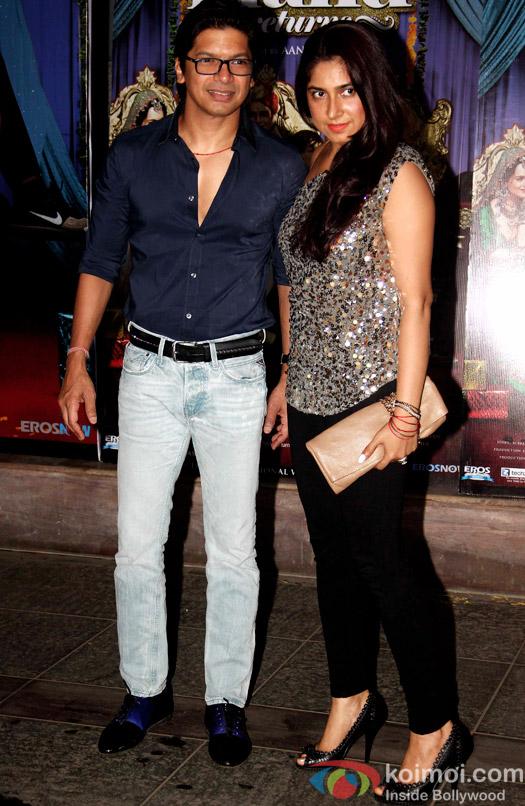 Shaan and Radhika Mukherjee during the success bash of movie Tanu Weds Manu Returns