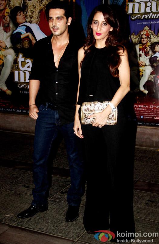 Zayed Khan and Farah Khan during the success bash of movie Tanu Weds Manu Returns