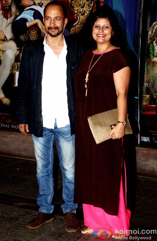 Deepak Dobriyal and Lara Bhalla during the success bash of movie Tanu Weds Manu Returns