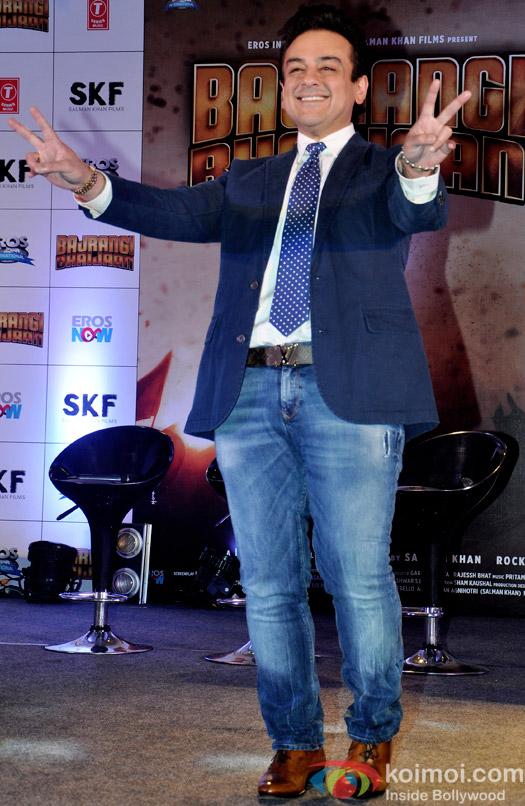 Adnan Sami during the Bajrangi Bhaijaan's 'Bhar Do Jholi Mein' song launch