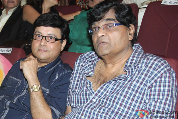 Sachin Pilgaonkar and Ashok Saraf during the launch of Adhunik Maharashtrachi Jadan Ghadan: Shilpakar Charitrakosh