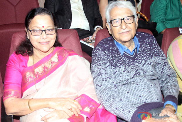 Seema Deo and Ramesh Deo during the launch of Adhunik Maharashtrachi Jadan Ghadan: Shilpakar Charitrakosh