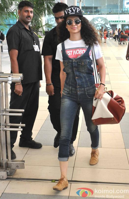 Kangana Ranaut Snapped At Domestic Airport