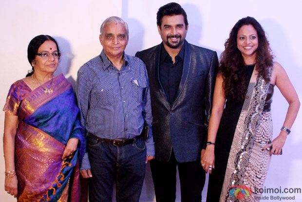 R. Madhavan with family during his birthdya bash