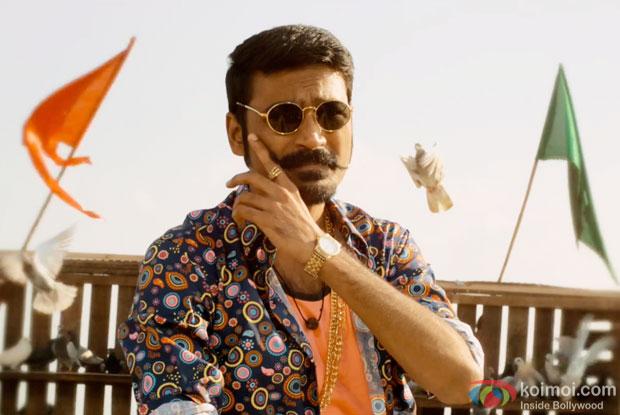 Dhanush in a still from movie 'Maari'