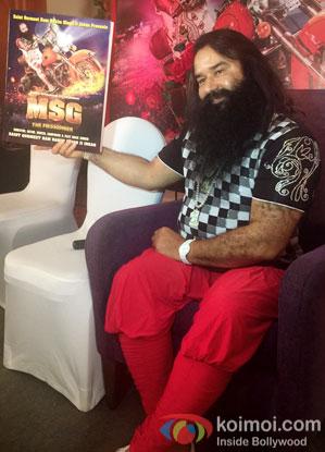Saint Gurmeet Ram Rahim Singh Ji during the DVD launch of 'MSG-The Messenger'
