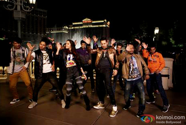 Shraddha Kapoor and Varun Dhawan in a still from movie 'ABCD 2'