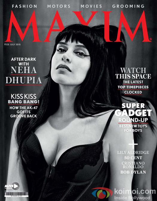Neha Dhupia Spices Up The Maxim Cover