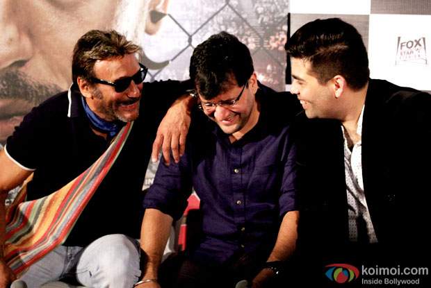Jackie Shroff, Karan Malhotra and Karan Johar At Brothers' Trailer Launch