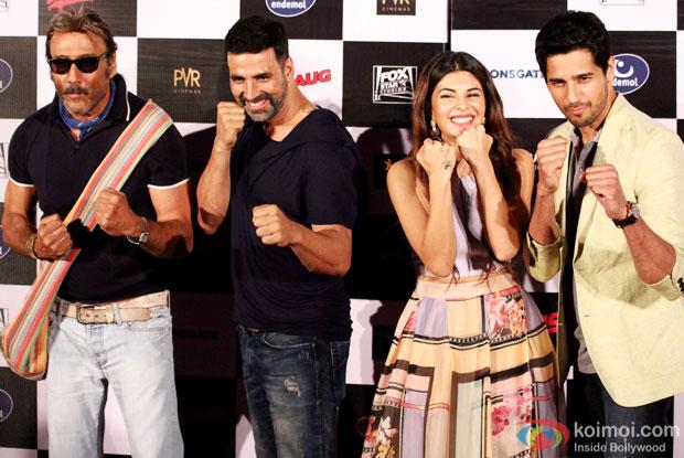 Jackie Shroff, Akshay Kumar, Jacqueline Fernandez and Sidharth Malhotra At Brothers' Trailer Launch