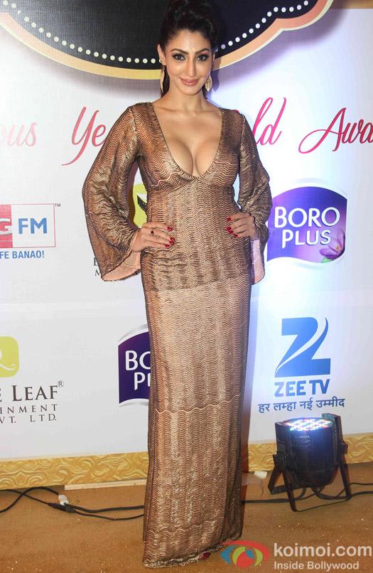 TV Celebs Sizzle At Zee Gold Awards 2015 Red Carpet