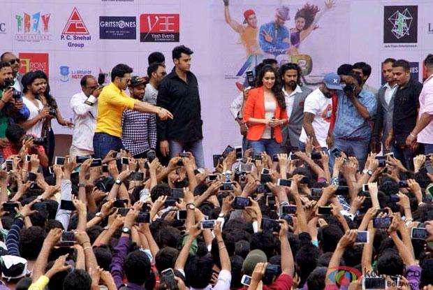 Pics : Varun Dhawan, Shraddha Kapoor and Remo D'Souza At ABCD 2 Promotions In Ahmedabad