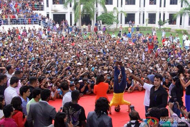 Pics : Shraddha Kapoor, Varun Dhawan and Remo D'Souza At ABCD 2 Promotions In Ahmedabad