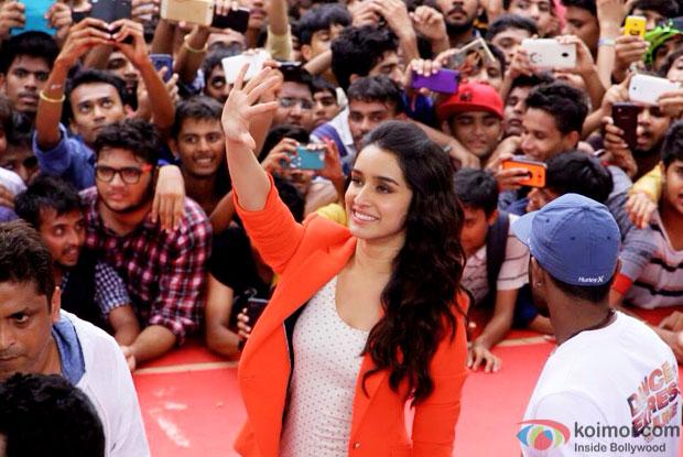 Pics : Shraddha Kapoor At ABCD 2 Promotions In Ahmedabad