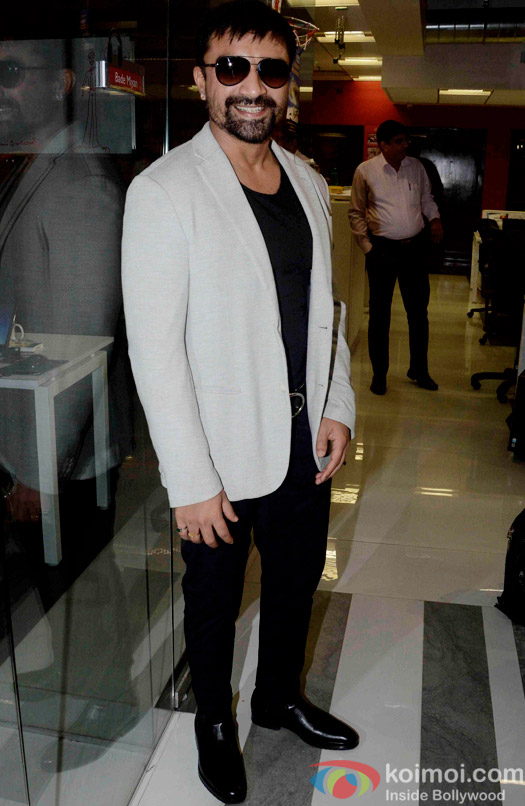 Ajaz Khan during the promtion of movie 'Guddu Rangeela' at Fever 104 FM
