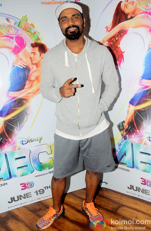 Remo D'Souza during the Promotion of ABCD 2