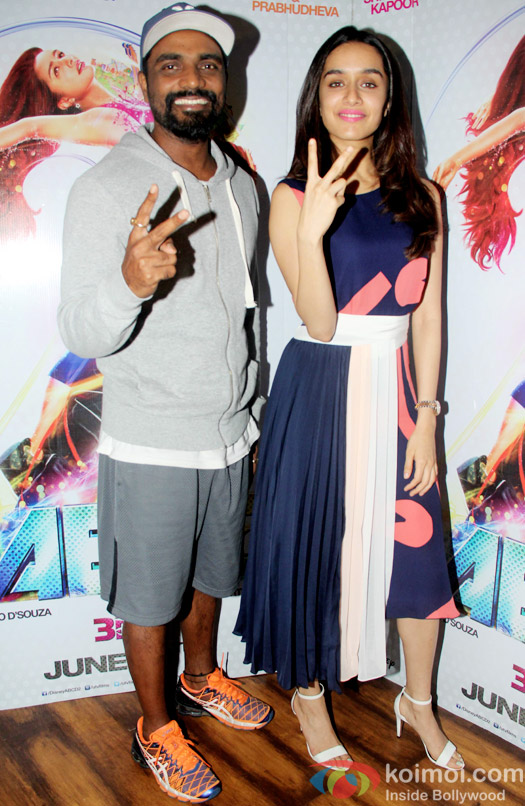 Remo D'Souza and Shraddha Kapoor during the Promotion of ABCD 2