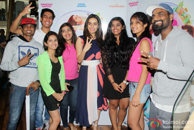 Shraddha Kapoor and Remo D'Souza during the Promotion of ABCD 2