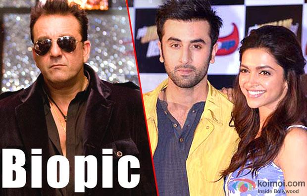 Sanjya Dutt, Ranbir Kapoor and Deepika Padukone