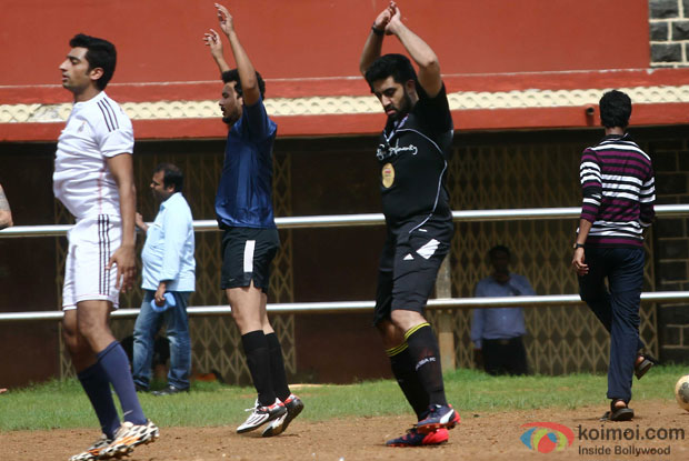 Abhishek Bachchan Snapped At Playing Football