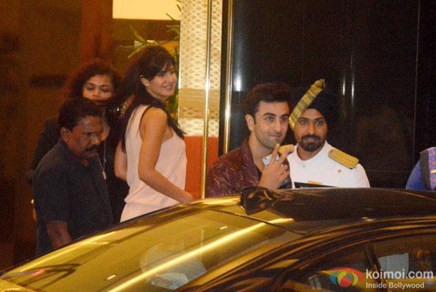 Katrina Kaif and Ranbir Kapoor Snapped At Arjun Kapoor's Birthday Bash