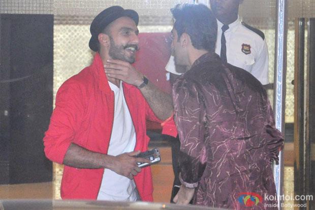 Ranveer Singh and Ranbir Kapoor Snapped At Arjun Kapoor's Birthday Bash