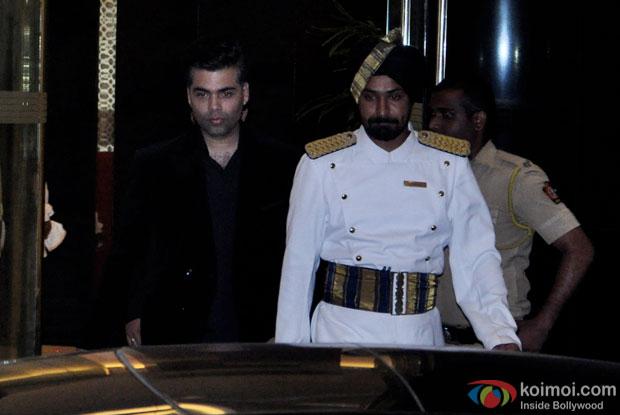 Karan Johar Snapped At Arjun Kapoor's Birthday Bash