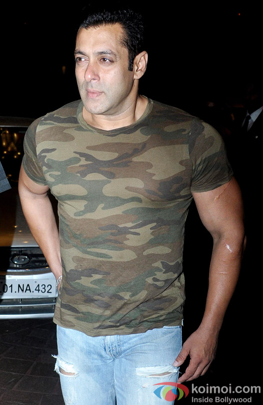 Salman Khan Goes Trendy; Snapped Sporting The Ripped Jeans