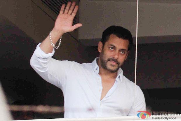 Salman Khan at his residence Galaxy Apartment