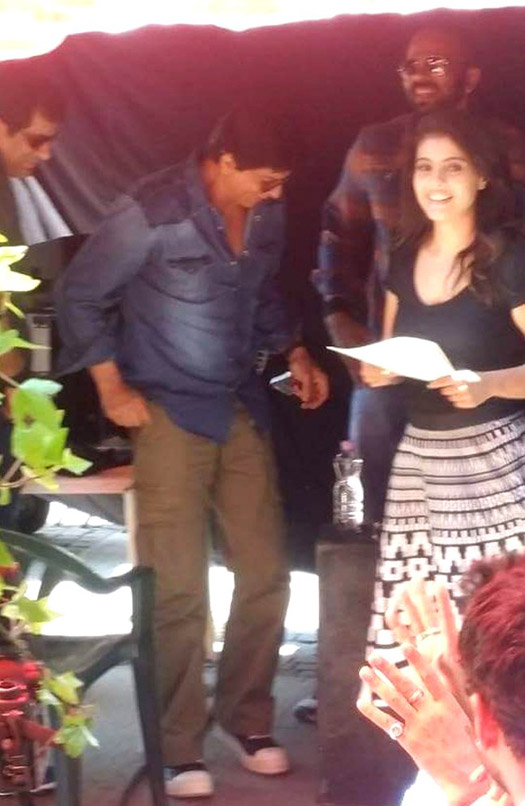 Shah Rukh Khan and Kajol On The Sets Of 'Dilwale' In Bulgaria