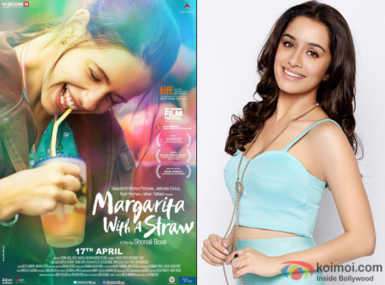 Margarita With A Straw movie poster and Shraddha Kapoor