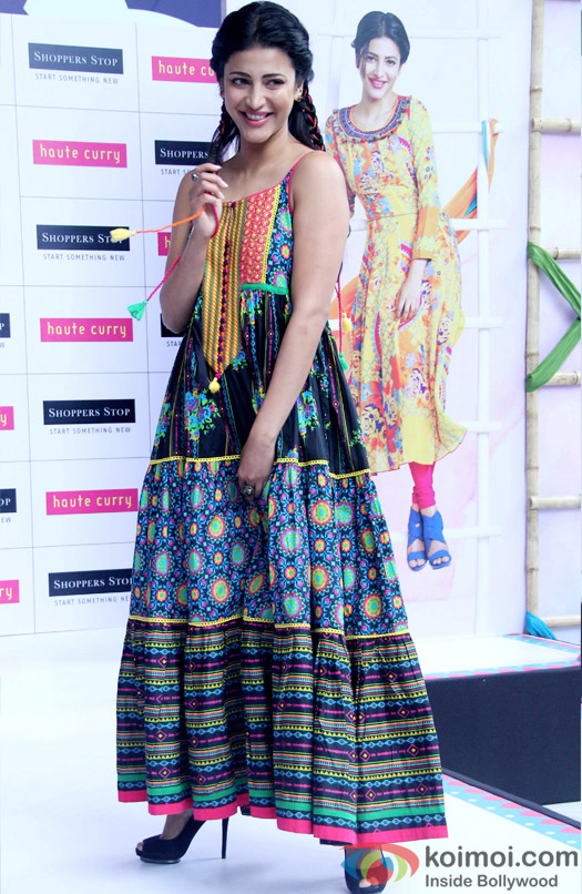 Shruti Haasan Showcases The Latest Collection Of Brand Haute Curry