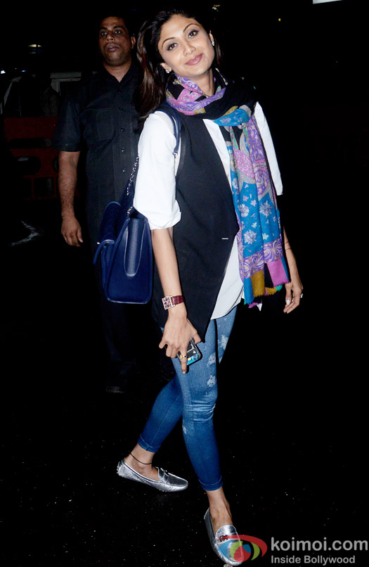 Snapped At Airport : Shilpa Shetty