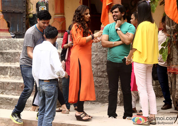 Vidya Balan during the promotion of 'Hamari Adhuri Kahani' On The Sets Tere Sheher Mein