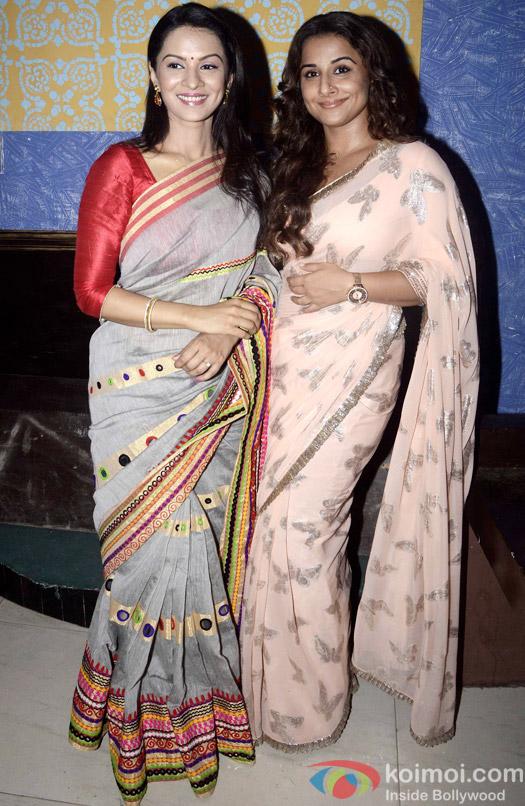 Snapped : Pallavi Kulkarni and Vidya Balan Promotes 'Hamari Adhuri Kahani' On The Sets Of 'Itna Karo Na Mujhe Pyar'