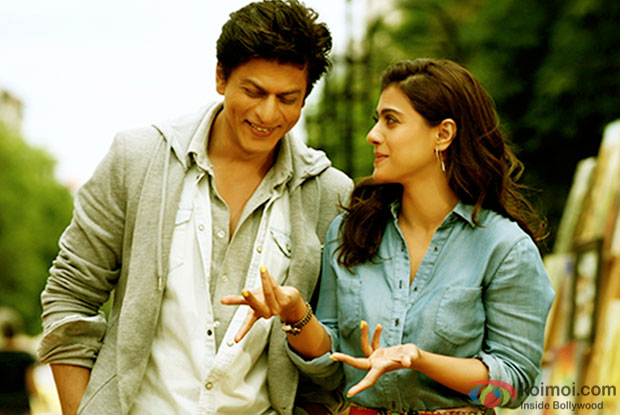 Shah Rukh Khan and Kajol in a still from movie 'Dilwale'