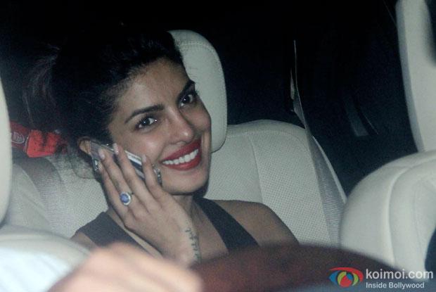 Priyanka Chopra spotted at 'Dil Dhadakne Do' screening