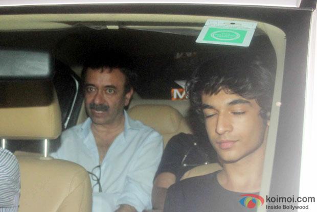 Rajkumar Hirani spotted at 'Dil Dhadakne Do' screening