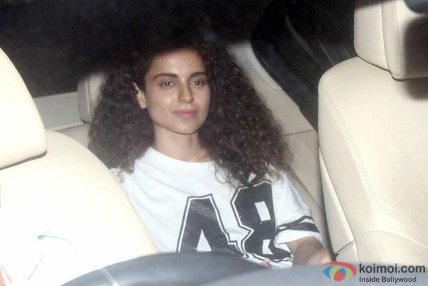 Kangana Ranaut spotted at 'Dil Dhadakne Do' screening