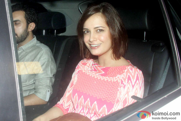 Dia Mirza spotted at 'Dil Dhadakne Do' screening