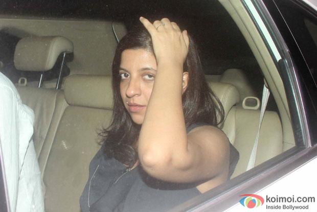 Zoya Akhtar spotted at 'Dil Dhadakne Do' screening