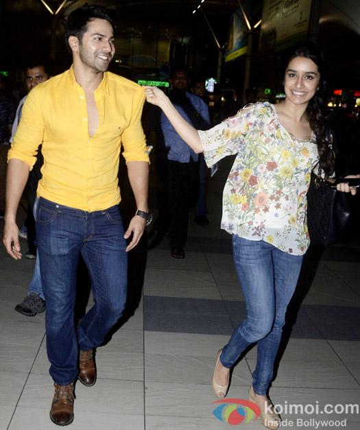 Spotted : Varun Dhawan and Shraddha Kapoor At Mumbai Airport