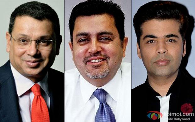 Uday Shankar, Vijay Singh and Karan Johar