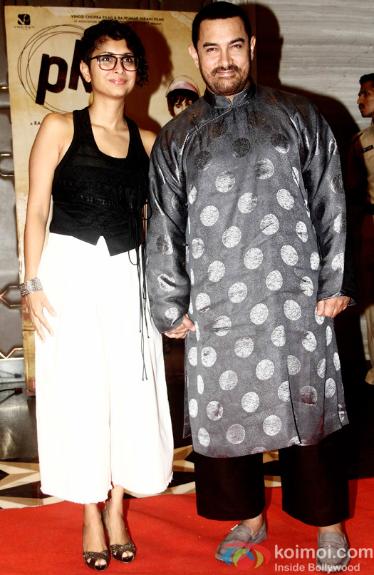 Kiran Rao and Aamir Khan during the success party of movie 'PK'