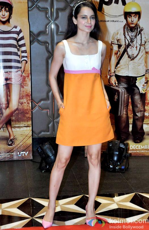 Kangana Ranaut during the success party of movie 'PK'